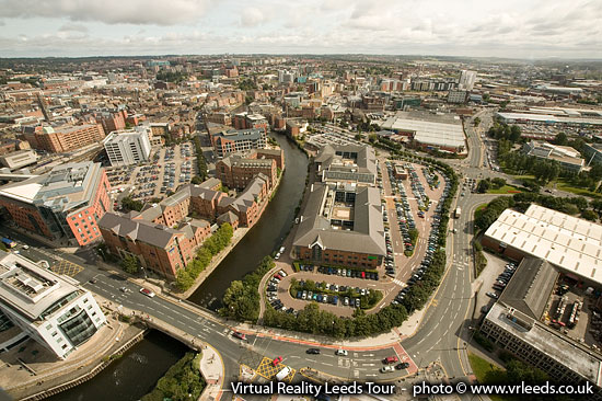 Aerial view of Leeds